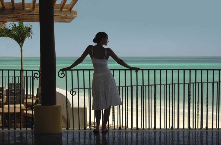 Woman with ocean view