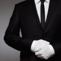 Concierge service - man with hands folded